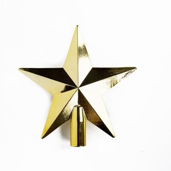 50 stuks Kerstster piek 20 cm Diameter Goud glans  Per omdoos