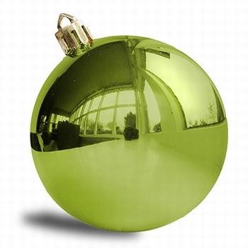 Lime groen - 160 st 8 cm glans.  Per omdoos