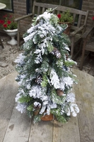 Cottage tree 60 cm Prelight with snow and Pineapples per stuk