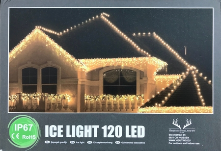 Professionele IJspegel verlichting LED warm wit.120 LED IP67