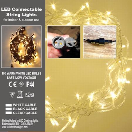 Guirlande Lumineuse 100 LED Chaut Trans PVC