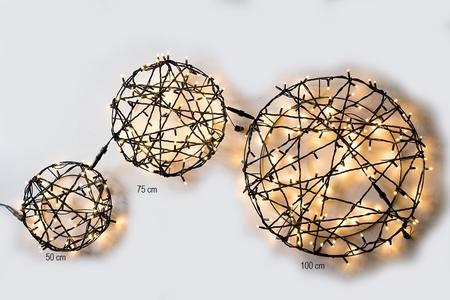 Licht Cirkel Pro. 100 LED Warm Wit rubber kabel 75 cm