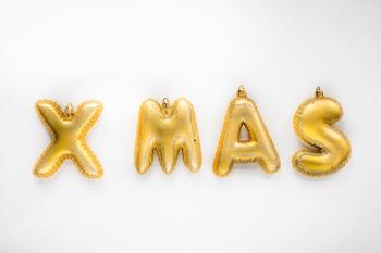 X-M-A-S  letter per set - set lengte 33 cm - hoogte 10 cm