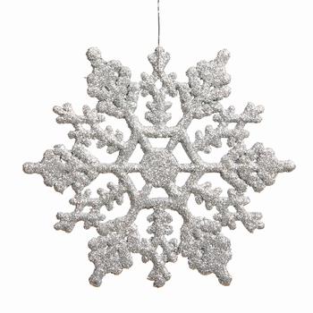 Snow flake Zilver 10 cm