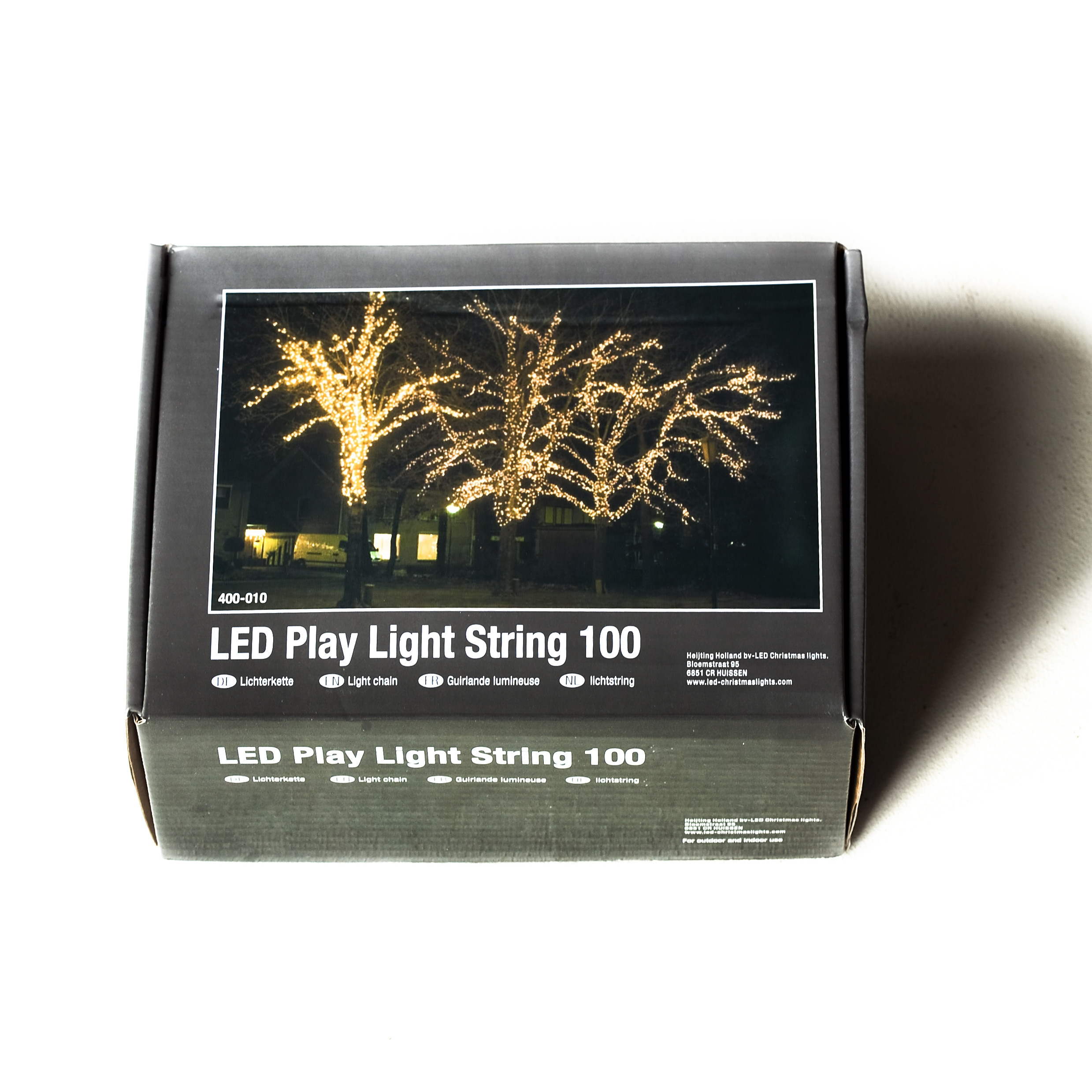 Clusterlight LED 180 lamps 3 meter indoor/outdoor PCV Cable.