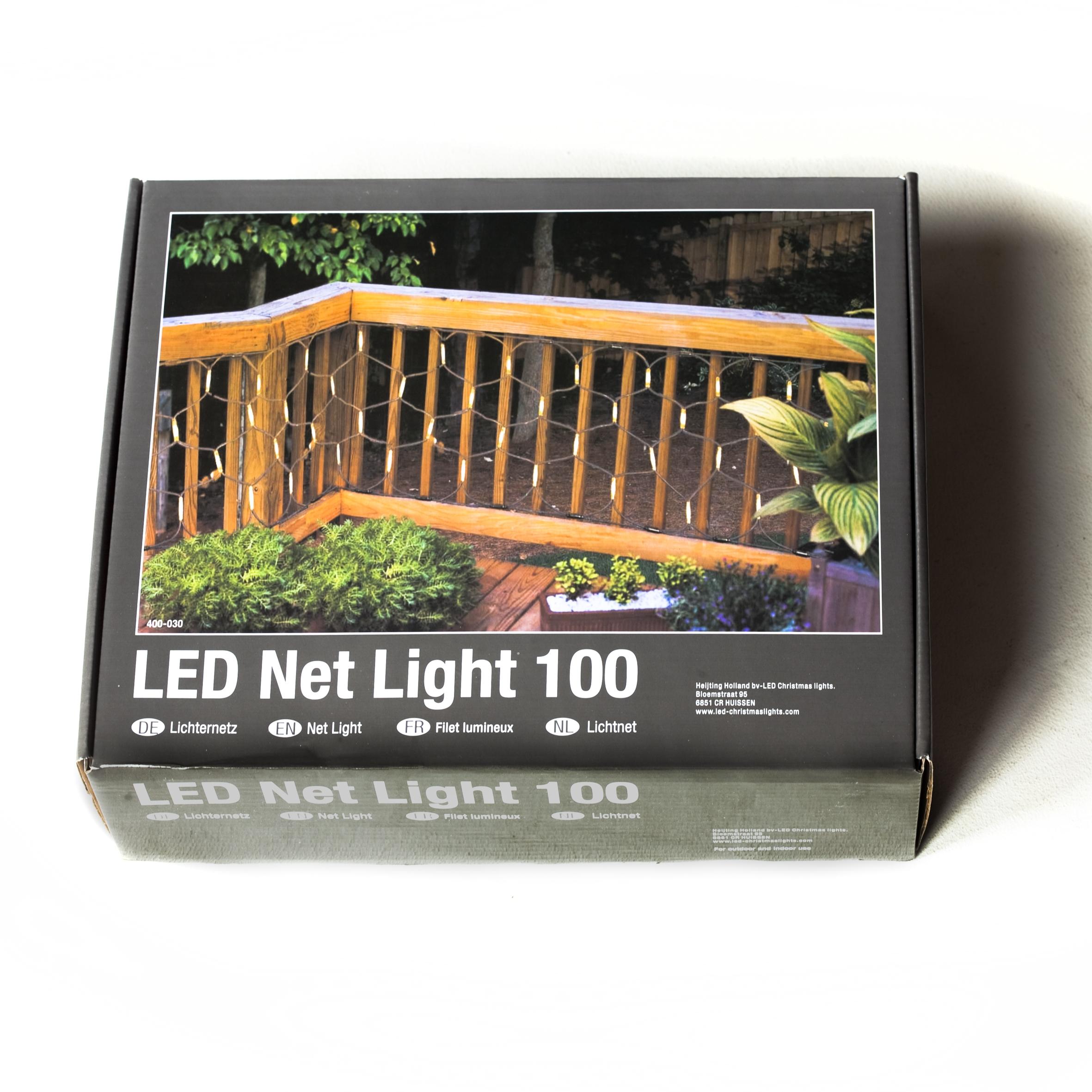 Professionele Netverlichting  LED warm wit .100 lampjes