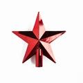 50 stuks Kerstster piek 20 cm Diameter Rood glans