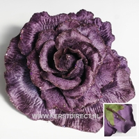 12 stuks per omdoos Kerstbloem Rose Glitter - Purple