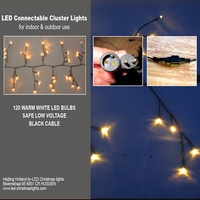 Guirlande LED 120 LED 3 meter IP 44 per stuk/ piece