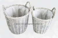10 Set 2 wicker pots Per omdoos