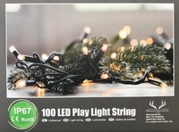 light chain 100 LED warm White connectable -10 meter per set per stuk/ piece