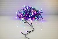 Multicolour stringl. LED 100 lamps 8 meter Koppelbaar. IP 44