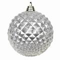 Diamant kerstballen Zilver. 8 cm Doos a 160 st