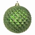 Diamant kerstballen Antiek Groen. 8 cm Doos a 160 st