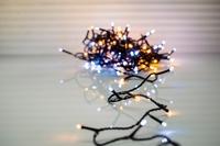 Stringlights two tone LED 100 lamps 8 meter Koppelbaar IP 44