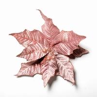 48 stuks per omdoos Kerstbloem Pontsettia Glitter - Roze
